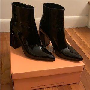 Public Desire Patent Ankle Boots